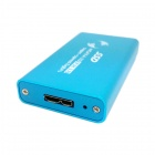 CY 50mm mini PCI-E mSATA Solid State Disk SSD to USB 3.0 Hard Disk Case Enclosure w/ Cable -Sky Blue
