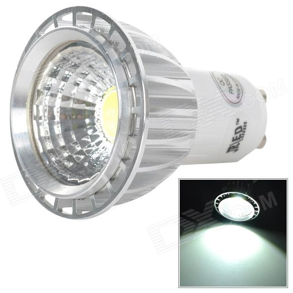 JRLED JR-LED-GU10-3W-W-Dimmer-COB GU10 3W 230lm 6500K 1-COB White Light Spotlight (AC 220V) - DXGU10<br>Contracted stylish appearance generous adopt the most popular of the COB light source has no glare no vertigo calorific value in the majority of small advantages uses theorist power supply with functions of adjustable light can follow ones inclinations of according to customer demand to adjust the brightness of lamps and lanterns so as to meet cusmoters demands a good option for household lighting.<br>