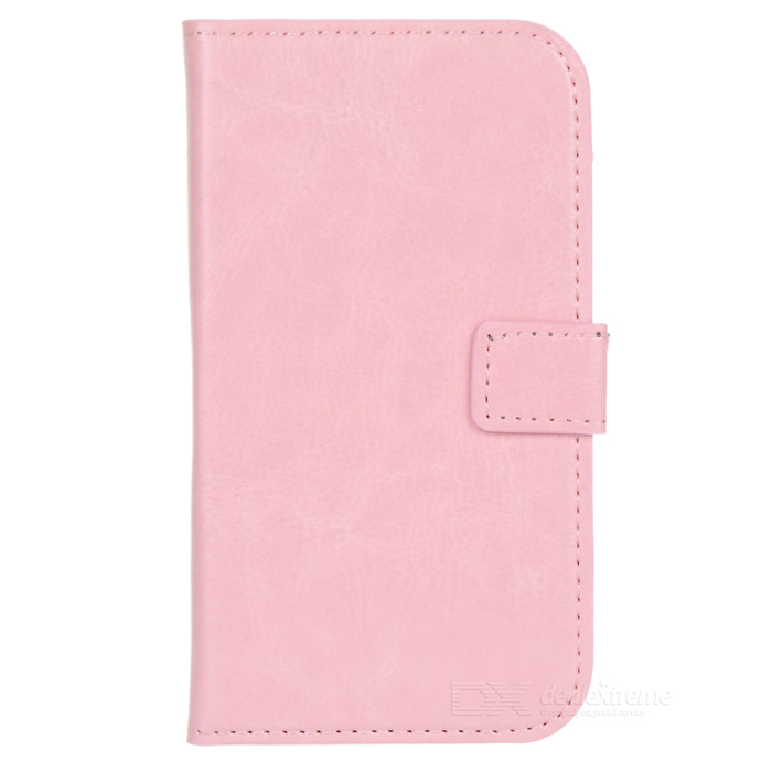 A-556 Protective PU Leather Case w/ Card Holder Slots for Samsung Galaxy S3 i9300 - Pink