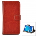 A-556 Protective PU Leather Case w/ Card Holder Slots for Samsung Galaxy S4 i9500 - Brown