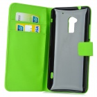 A-556 Protective PU Leather Case for HTC One Max T6 - Green