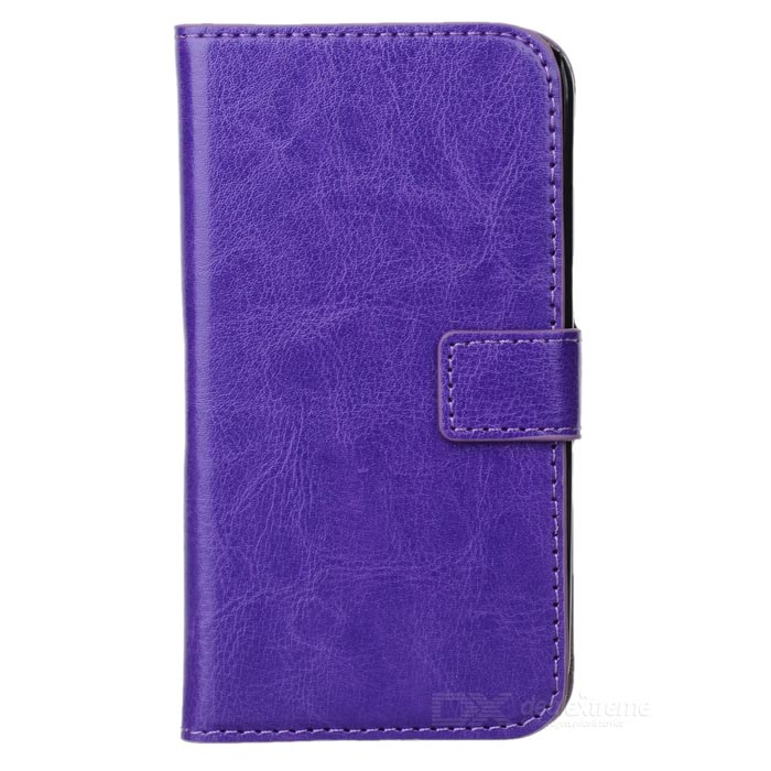 A-556 Protective PU Leather Case w/ Card Holder Slots for Samsung Galaxy S4 i9500 - Purple protective pu leather case w card holder for samsung galaxy s4 i9500 brown