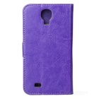A-556 Protective PU Leather Case w/ Card Holder Slots for Samsung Galaxy S4 i9500 - Purple