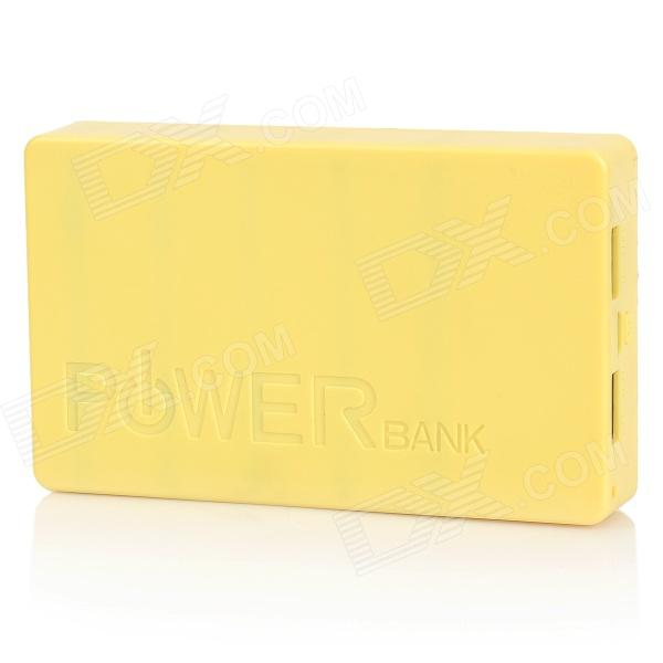 "Universal Dual USB 5V ""14000mAh"" Li-ion Battery Power Bank for Iphone / HTC + More - Yellow"