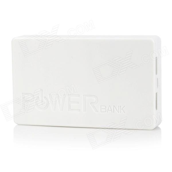 PG-1Q Universal Dual USB 5V 14000mAh Li-ion Battery Power Bank for Iphone / HTC + More - White wireless usb micro sd tf card reader li ion battery power bank for iphone more white