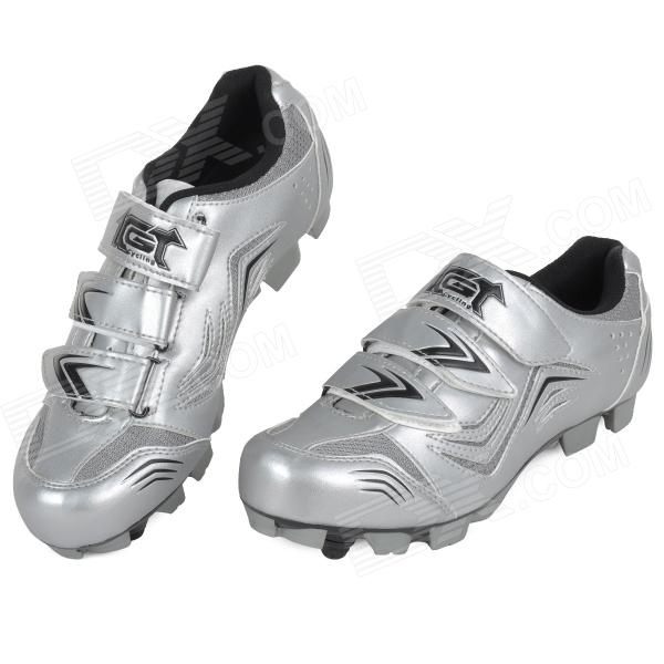 JAD SPO-108 Bicycle Breathable PU Shoes - Silver (Size 42)