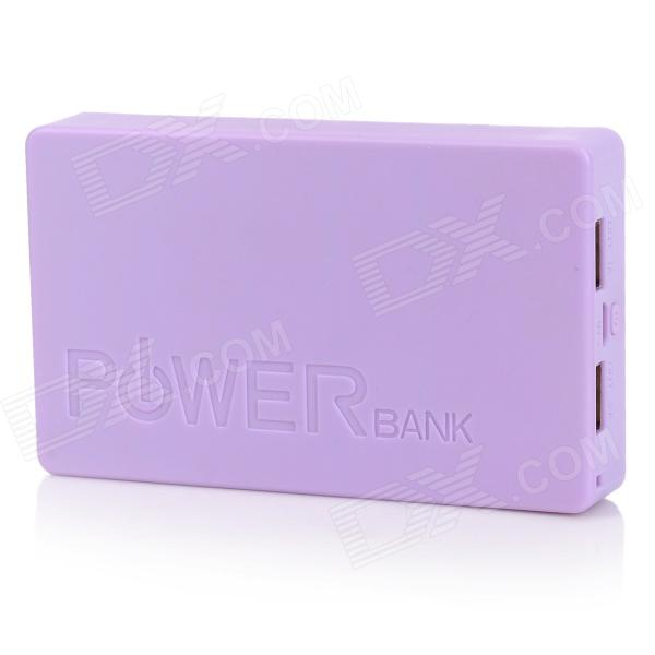PG-1Q Universal Dual USB 5V 14000mAh Li-ion Battery Power Bank for Iphone + More - Light Purple projector lamp bulb an xr20l2 anxr20l2 for sharp pg mb55 pg mb56 pg mb56x pg mb65 pg mb65x pg mb66x xg mb65x l with houing
