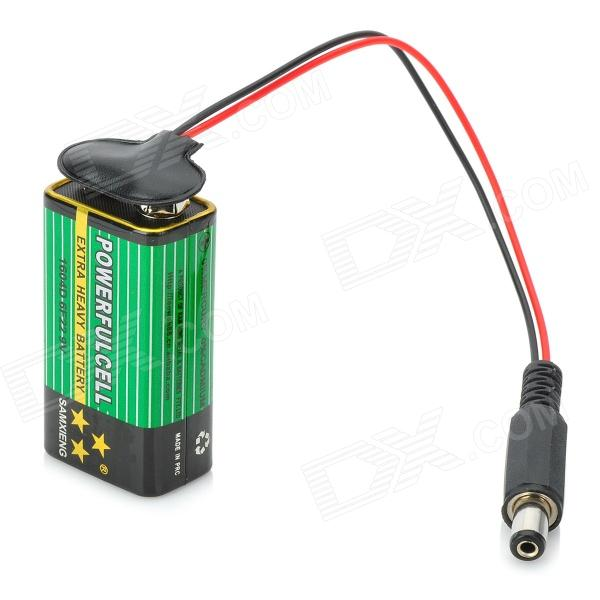 how to connect 9v battery to connector