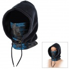 SAHOO 46867 Universal Four Seasons Fleece Masked Cap - Black + Blue (Free Size)