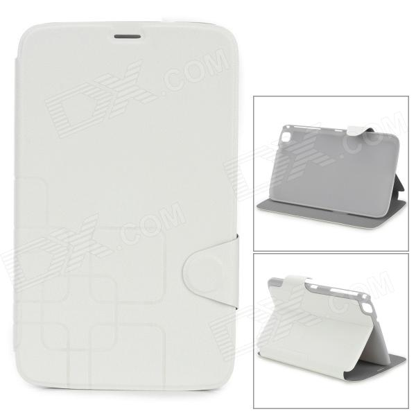 Protective PU Leather Case for Samsung Galaxy Tab 3 8.0 T310 / T311 - Beige + Grey
