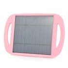 WN-810 5V 500mA Li-ion Polymer Solar Power Charger w/ Stand - Black + Light Pink