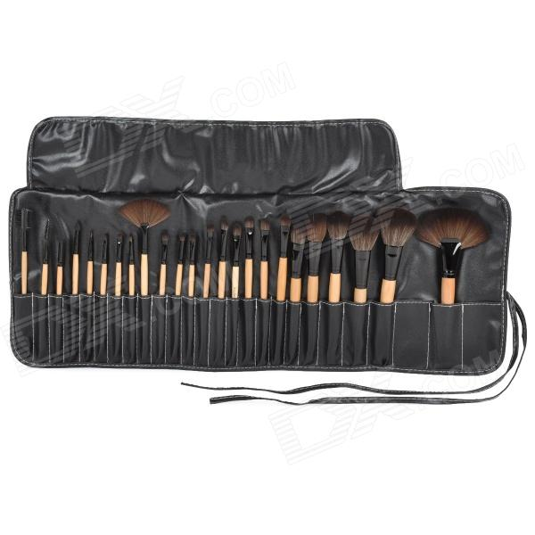 24-in-1 Professional Cosmetic Makeup Brush Tool Set tube professional 7 in 1 cosmetic makeup brush set w pu case purple