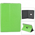 360 Degree Rotation PU Leather Case w/ Auto Sleep for Ipad AIR - Grass Green