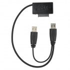 USB 3.0 Male to SATA 7-Pin + 6-Pin Male Cable for CD-ROM - Black (36cm)
