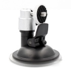 Universal 360 Degrees Swivel Convenient Suction Cup for Car GPS / DV / Camera - Black + Silver