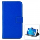 A-556 Protective PU Leather Case w/ Card Holder Slots for Samsung Galaxy S4 i9500 - Dark Blue