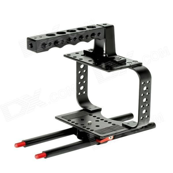DEBO DET-28 Porous Camera Cage Handle Kit for SLR Camera 5D2 / 5D3 - Black jtz dp30 camera baseplate shoulder support rig 15mm rod kit for sony fs5 pxw fs5