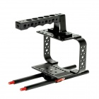 DEBO DET-28 Porous Camera Cage Handle Kit for SLR Camera 5D2 / 5D3 - Black