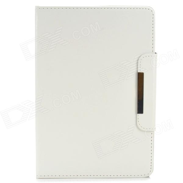 Protective PU Leather Magnetic Buckle Case w/ Auto Sleep for Retina Ipad MINI - White boss cx12
