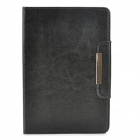Protective PU Leather Magnetic Buckle Case w/ Auto Sleep for Retina Ipad MINI - Black