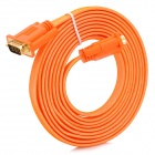 VGA Male to Male Flat Cable - Orange + White + Multicolored (3m)