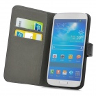 A-556 Protective PU Leather Case w/ Card Holder Slots for Samsung Galaxy S4 i9500 - Black