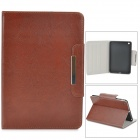 Protective PU Leather Magnetic Buckle Case w/ Auto Sleep for Retina Ipad MINI - Deep Brown