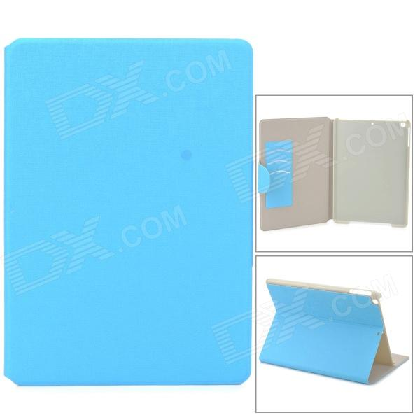 Protective PU Leather Case w/ Card Slot for Ipad AIR - Light Blue protective flip open pu pc case cover w stand card slot for ipad air 2 red
