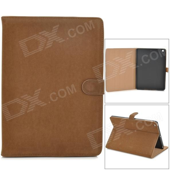 Protecitve Flip Open PU Leather Case w/ Auto Sleep for Ipad AIR - Brown