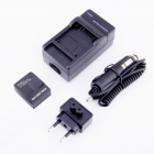 1300mAh Li-ion Battery & Car Adapter & Travel Charger for GoPro Hero 3 / 3+  EU Plug
