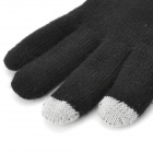 Hicall Call-receiving Bluetooth Magic Touch Screen Warm Gloves for Men - Black