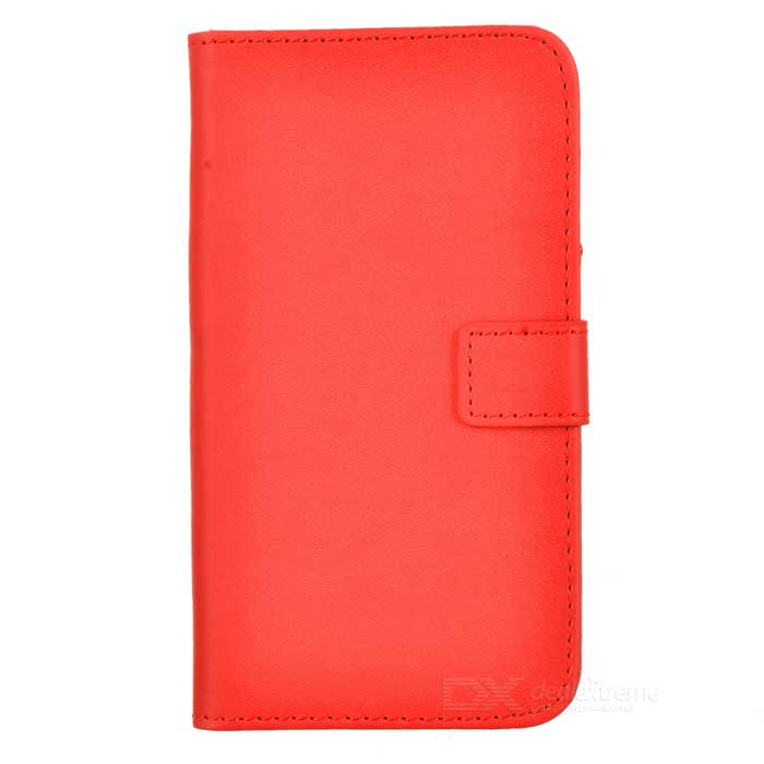 Protective PU Leather Case w/ Card Holder Slots for LG Nexus 5 - Red lychee grain style protective pu leather case w card holder slots for google nexus 5 white