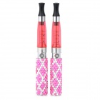 Stylish Crystal Covered 650mAh Tobacco Stem + CE5 Atomizer E-cigarette - Pink + Dark Pink (2 PCS)