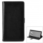 Buy Stylish Protective PU Leather Case Card Holder Slots HTC One Max T6 - Black