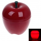 Warm Creative Apple Style Home Furnishing 15W 70lm 6500K White Light Decoration Lamp - Red