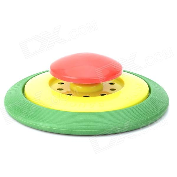 Plastic Flying Disc Frisbee Toy - Red + Yellow + Green x com ut175 ilu1 professional pvc flying disc frisbee blue yellow