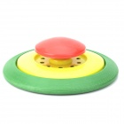 Plastic Flying Disc Frisbee Toy - Red + Yellow + Green