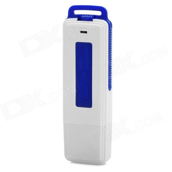 LYB-UR08-8G-LANSE USB Voice Recorder - White + Blue (8GB)