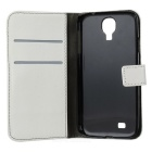A-556 Protective Flip Open Case w/ Card Slots for Samsung Galaxy S4 i9500 - White