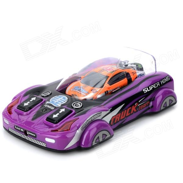Fun Mini 2-CH Remote Control Vehicle Toy - Black + Orange (2 x AA) wltoys wl r4 2 9 lcd 6 axis multi function remote controller for r c toy black 4 x aa