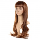 K134 Cosplay Neat Bangs Long Curly  Hair Wig - Dark Brown