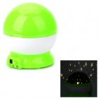 Fancy Warm White Light Starry Sky Pattern Projection Lamp w/ USB cable - Green + White (4 x AAA)