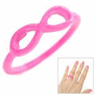 LX-J21 Cute Bowknot Style Zinc Alloy Finger Ring for Women - Hot Pibk
