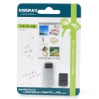 KINGMAX KOTGR-01 OTG TF Card Reader w/ USB Adapter - Silver + Translucent Black
