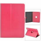 Drehung um 360 Grad PU-Leder Fall w / Auto-Sleep für Ipad AIR - Deep Pink