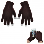 Casual 3-fingers Touch Screen Warm Gloves - Black (Pair / Free Size)