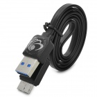 Micro USB 3.0 9pin Male to USB 3.0 Male Data Cable for Samsung Galaxy Note 3 Series - Black (60cm)