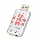 DGW Y-X1 USB 2.0 Virtual 7.1-CH Sound Card Adapter - Silver + Red