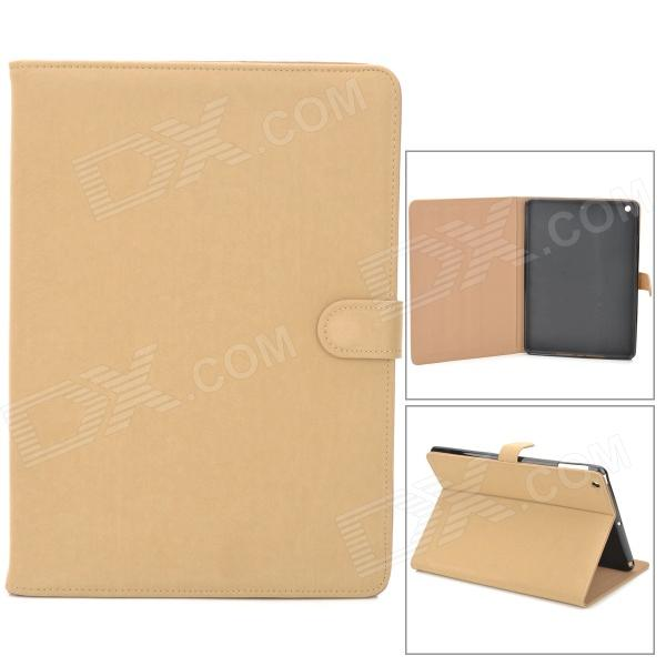 Protective Flip Open PU Leather Case w/ Auto Sleep for Ipad AIR - Beige nice soft silicone back magnetic smart pu leather case for apple 2017 ipad air 1 cover new slim thin flip tpu protective case