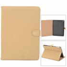 Protective Flip Open PU Leather Case w/ Auto Sleep for iPad Air - Beige